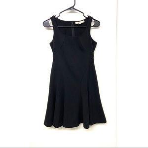 Loft Ann Taylor Little Black Seamed Dress 00P
